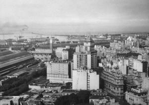 Vista del puerto de Buenos Aires, años 40