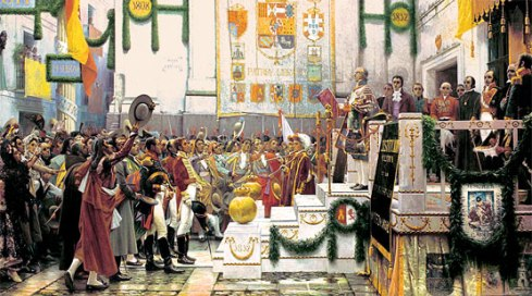 Salvador Viniegra (1862-1915), La promulgación de la Constitución de 1812