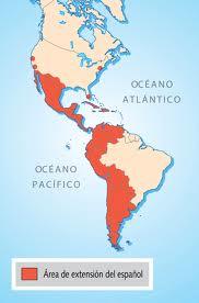 Mapa que muestra la extensión del idioma español en América. Si Hispanoamérica se reunificase en un solo Estado podría convertirse en la próxima superpotencia