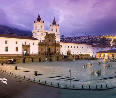 Plaza de San Francisco, en la ciudad de Quito