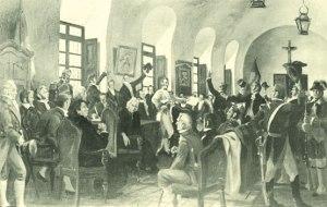 Cabildo abierto de 1808, óleo de Pedro Alonso