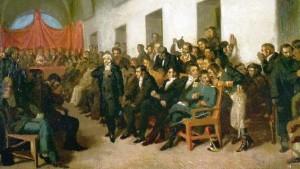 Cabildo abierto del 22 de mayo de 1810, óleo de Juan Manuel Blanes (1870), Colección Museo Histórico Nacional, Buenos Aires.
