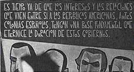 La famosa frase de Bolívar, en su Convocatoria a los Estados hispanoamericanos al Congreso de Panamá
