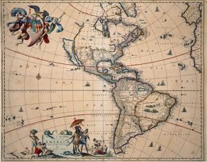 Mapa de América, finales del siglo XVII.