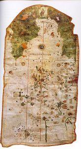 El mapa o carta del marino Juan de la Cosa (1500), Museo Naval de Madrid. Es la es la representación inequívoca del continente americano más antigua conservada.