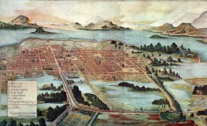 Plano de la ciudad virreinal de México, al finalizar el 1.er tercio del siglo XVIIJuan Gómez de Trasmonte, 1628.