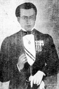 Bernardo de Monteagudo, retratado por V.S. Noroña en 1876. Monteagudo desarrolló una visión americanista de la independencia que lo llevó al convencimiento de que toda Hispanoamérica debía ser una sola nación.