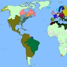 El mundo occidental, hacia 1800. Las Indias Hispanoamérica), como parte de la Monarquía hispánica, era el Estado más extenso y poderoso.