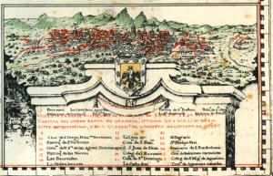 Antiguo mapa del virreinato de Santa Fe (Archivos virtuales de la Biblioteca Luis Ángel Arango).