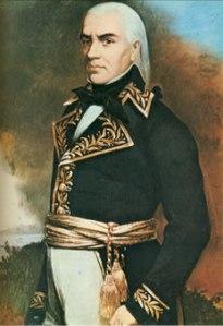 Retrato de Francisco de Miranda (detalle), obra de Martín Tovar y Tovar (1874).