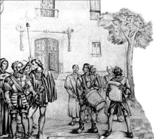 Proclamación de la Real Audiencia, mural de Vela Zanetti (1511), Palacio de Justicia, Santo Domingo.