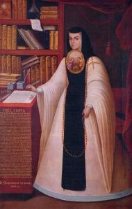 Retrato de Sor Juana Inés de la Cruz, por Juan de Miranda (hacia 1680). Patrimonio de la Universidad Nacional Autónoma de México (UNAM).