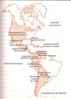 Los virreinatos de la América hispana tras las reformas borbónicas (siglo XVIII).