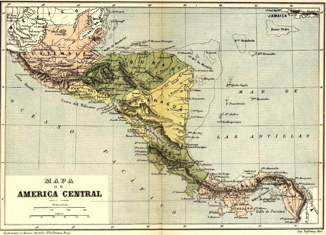 geografia centro america: