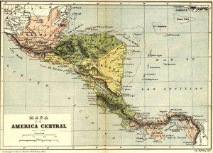 """Mapa incluido en """"Geografía de Centro América"""",  de José María Cáceres, París Garnier Hermanos, 1891, pág. 26."""