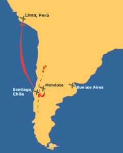 Croquis de la campaña de San Martín.