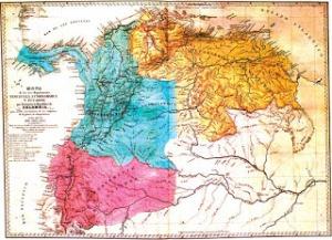 """La República de Colombia (1821-1831), conocida en historiografía como """"Gran Colombia"""""""