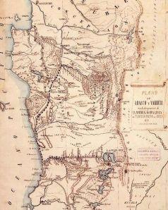 Mapa de la Araucania de 1870