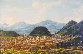 Quito, por Rafael Salas (mediados siglo XIX). Banco Central del Ecuador.