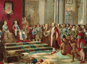 Recibimiento de Colón