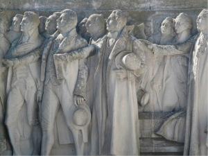 Diputados jurando la Constitucion de Cádiz, monumento a la Constitución
