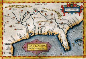 Mapa de Florida de 1570 perteneciente al 'Theatrum Orbis Terrarum', considerado el primer atlas moderno