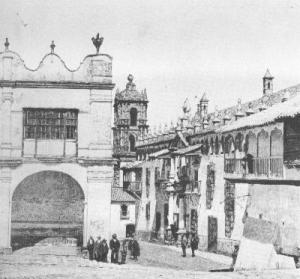 Vista de la Casa de la Moneda de Potosí, finales del siglo XIX.