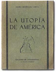 """Portada de """"La utopía de América"""", de una edición de 1925."""