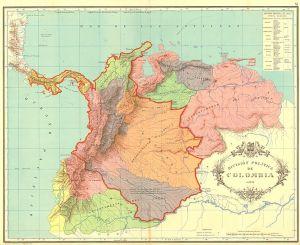 La República de Colombia, conocida como Gran Colombia, se concibió como el primer paso para la unión de toda la América española en un solo Estado. Sin embargo, se desintegró tras una vida efímera (1831).