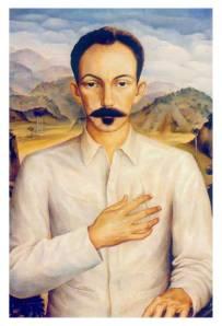 José Martí, en un retrato del pintor cubano Jorge Arche (1943). Museo Nacional de Bellas Artes, La Habana.