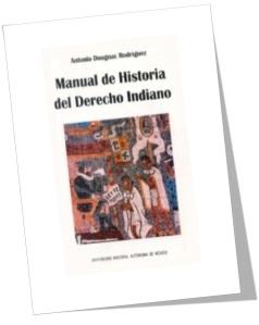 manual de historia del derecho indiano
