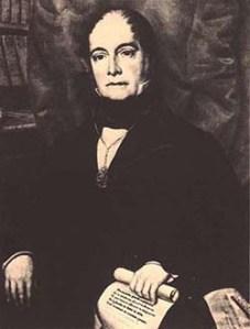 Retrato al óleo de Andrés Bello, atribuido al pintor Raymond Quinsac Monvoisin (Biblioteca Nacional de Caracas).