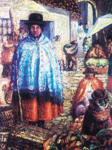 El Alto, cuadro de Arturo Borda (1883-1953). Bolivia es uno de los Estados hispanoamericanos donde más se hablan las lenguas indígenas; sin embargo, la mayoría de la población es, de hecho, mestiza y tiene en el español su idioma común.