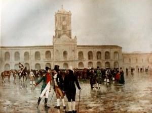 La revolución de mayo de 1806, óleo de Francisco Fortuny (1942).