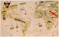 Mapa de 1526 que ya refleja las exploraciones en tiempos de Carlos V.