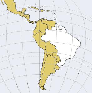 La América hispana: aquí se concentra más del 80% de los hablantes de español de todo el mundo.