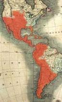 America hispana mapa indiano pequeño