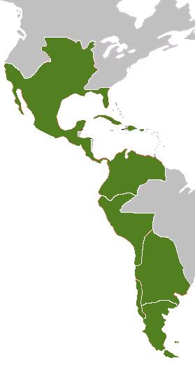 Territorio de América Hispana hacia 1800.