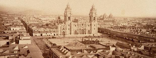 Detalle de una fotografía de la Lima en la década de 1860, época en que se celebró el Segundo Congreso