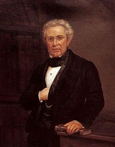 Retrato de Lucas Alamán, como Secretario de Relaciones Exteriores. Archivo General de la Nación (México).