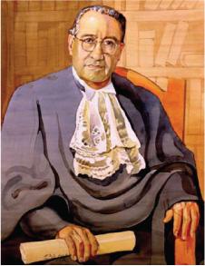 Isidro Fabela, retratado en una acuarela del arquitecto Vicente Mendiola (Retrato conservado en la Casa del Risco