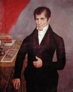 Retrato de José Cecilio del Valle, en un óleo de la escuela guatemalteca del siglo XIX (Museo Nacional de Historia, Ciudad de Guatemala).