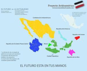"""El proyecto """"Aridoamérica"""" pretende balcanizar México, y es equiparable a otros proyectos hispanoamericanos que pretenden fragmentar a la ya de por sí dividida Hispanoamérica [pulse en la imagen para ampliar]"""