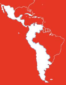 Hispanoamerica fondo rojo