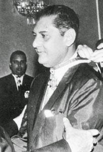 El escritor y político nicaragüense Julio Ycaza Tigerino (Estelí, 1919 - Managua, 2001)